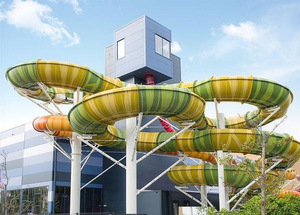 """Das """"Plopsaqua"""" in De Panne, Belgien. Ein ähnliches Bad schwebt den Betreibern auch für den Standort Haßloch vor. Bild: plopsa"""