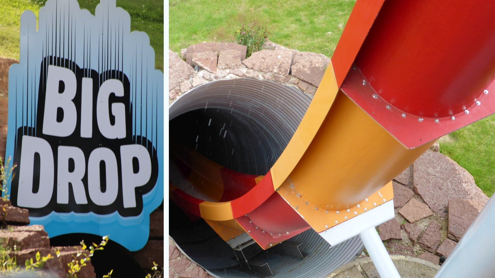 Big Drop - Kamikaze-Rutsche :: Free Fall Slide   Skara Sommarland