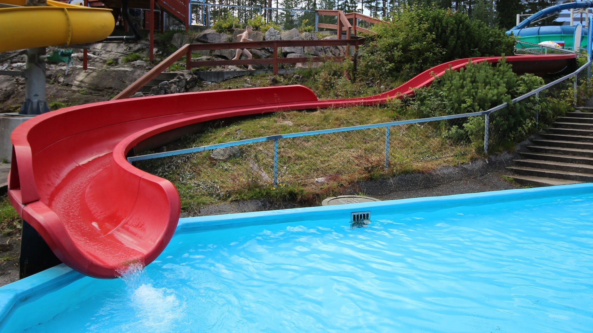 offene Kinderrutsche | Bø Sommarland Norwegen