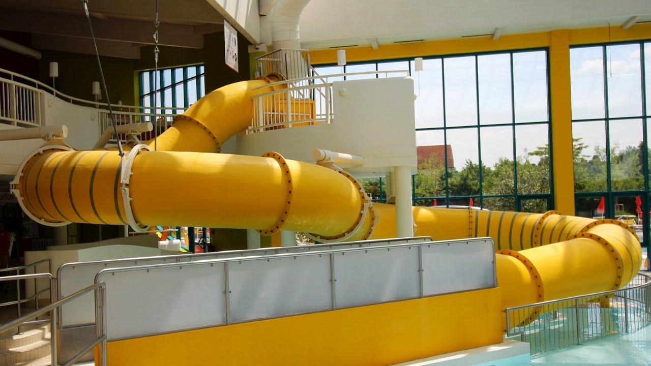 gelbe Riesenrutsche :: Kinder-Röhrenrutsche | Sunny Bunny's Water World Lutzmannsburg