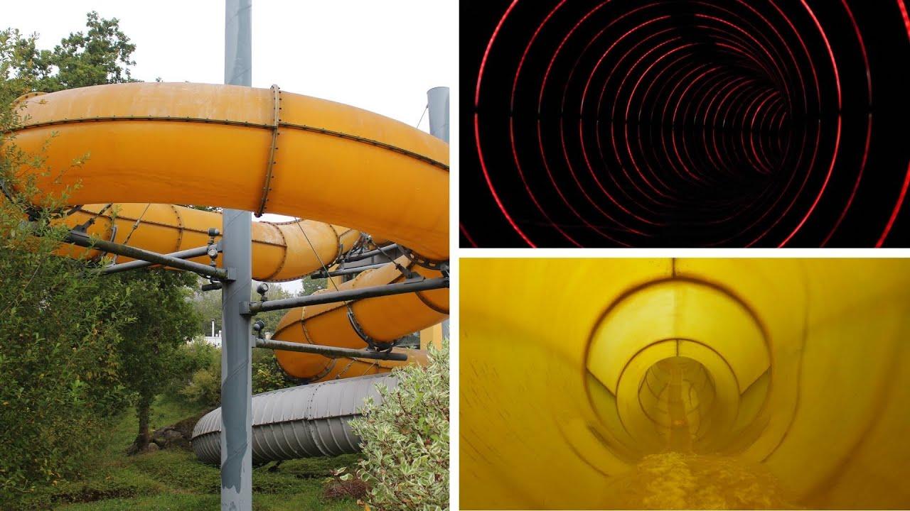 gelbe Reifenrutsche :: Black Hole (Running Lights)   Therme Obernsees Mistelgau