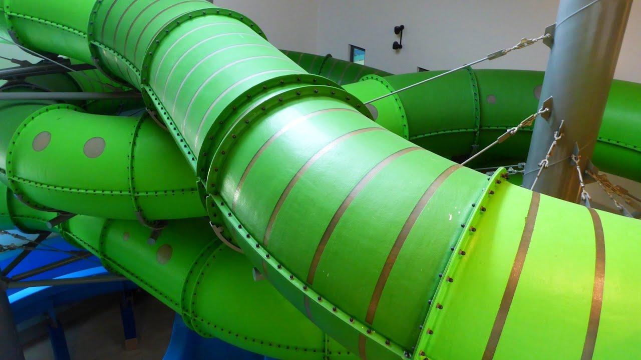 Reifenrutsche :: grüne Röhrenrutsche   Bambados Bamberg