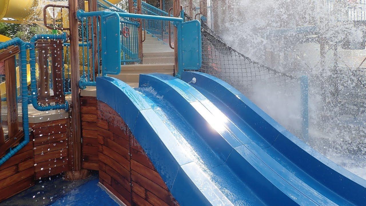 Bahnenrutsche :: Captain Splash Wasserspielhaus | Aquapulco Bad Schallerbach
